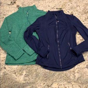Women's quarter sleeve zip up fleece and jacket